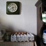 Random image: The Clock, The Eggs, and Some Plates