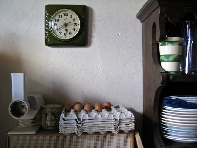 The Clock, The Eggs, and Some Plates