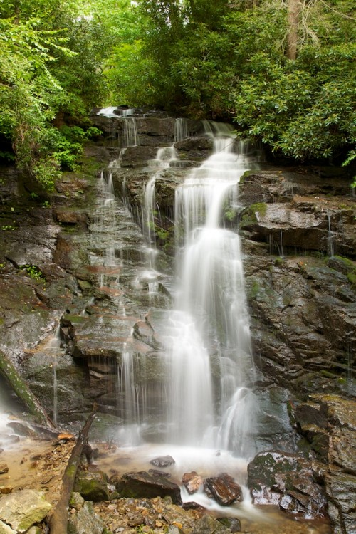 View of Soco Falls, Near Cherokee, North Carolina