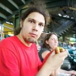 Random image: Valerian eating his Delicious hot-dog