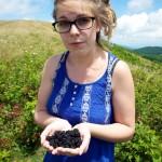 Random image: Lena with Blackberries