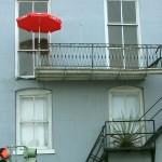 Random image: Red Umbrella on Porch