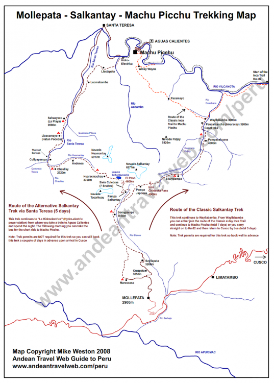 Salkantay Trail Map » ¡TravelSickness! on appalacian trail map, inca trail map, santa cruz trail map, mountain trail map, machu picchu trail map, huayna picchu trail map, tuckerman ravine trail map, fat man's pass trail map,