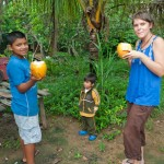 Random image: Lena, Charlie, and Sergio Enjoying Fresh Coconuts