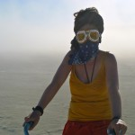 Lena in a Duststorm on the Playa