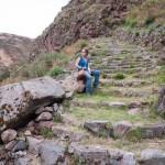 Random image: Lena on the Inca Steps
