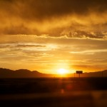 Random image: Sunset on the Highway