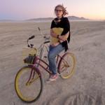 Random image: Lena and her Bike